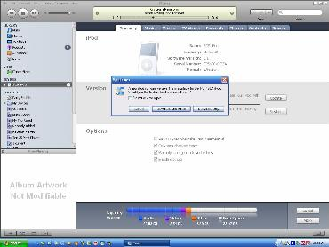 iTune iPod upgrade integration