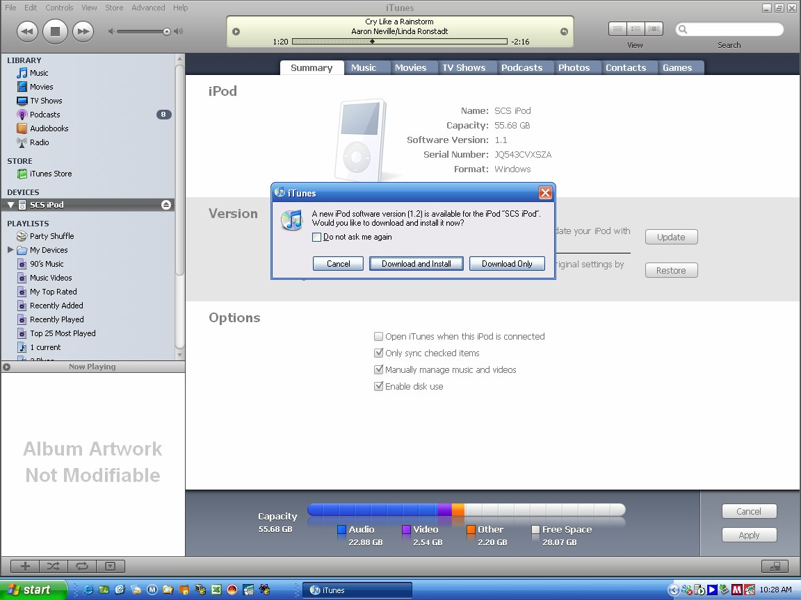 iTunes 7  iPod firmware detection and update  My Digital Life